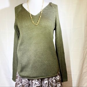 SUNDAY SALE   H & M Loose Fit Sweater Olive Green